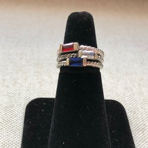 Set of costume jewelry rings